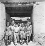 Cecil Beaton photograph of men of the Long Range Desert Group (LRDG) in the Western Desert during 1942.