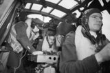 The crew of a Whitley Mk VII of No. 502 Squadron on an anti-submarine patrol, August 1942.