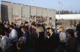 The opening of the Berlin Wall, November 1989.