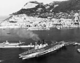 HMS ARK ROYAL at Gibraltar, 2 October 1978.