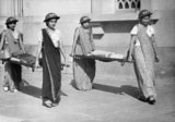 Indian women training for air raid precautions (ARP) duties in Bombay, 1942.