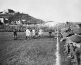 Final of the 48th Divisional (Fanshawe) Cup between football teams from the 1/7th Battalion, Worcestershire Regiment and 1/7th Battalion, Warwickshire Regiment played at Trissino, Italy, during 1918.