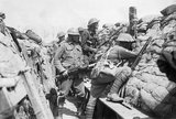 Men of the 2nd Australian Division in the front line at Croix du Bac, near Armentieres, 18 May 1916.
