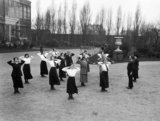 Officer recruits of the Women's Royal Naval Service (WRNS) undergoing physical training at Crystal Palace, London, during the First World War.