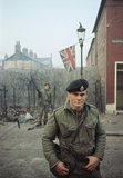 2nd Lieutenant Robin Martin of 1st Royal Green Jackets in Belfast during the Battalion's first tour of duty in Northern Ireland, 1969.