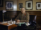 The Chief of the Imperial General Staff, General Sir Alan Brooke, at his desk at the War Office, 1942.