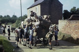 Boy scouts, cubs and sea scouts collecting waste paper for salvage at Balderton, Nottinghamshire, 1944.
