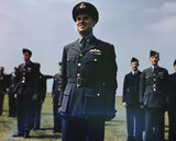 Wing Commander Guy Gibson VC during King George VI's visit to No. 617 Squadron (The Dambusters) at RAF Scampton, 27 May 1943.