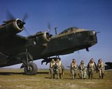 Short Stirling Mk I of No. 1651 Heavy Conversion Unit at Waterbeach in Cambridgeshire, 1942.