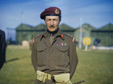 Major-General Frederick Browning, commanding the British 1st Airborne Division, Netheravon, 2 October 1942.