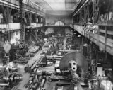 General view of a workshop in a Clyde ship building yard.