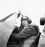 "Flight-Lieutenant J H ""Ginger"" Lacey of No. 501 Squadron"