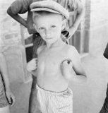 A young Polish boy at a Jewish Refugee camp, Palestine, 1942