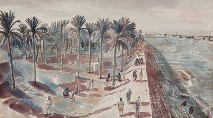 Baghdad: A View of the River Tigris and of the Camp of the Hygiene Section, an Indian Unit