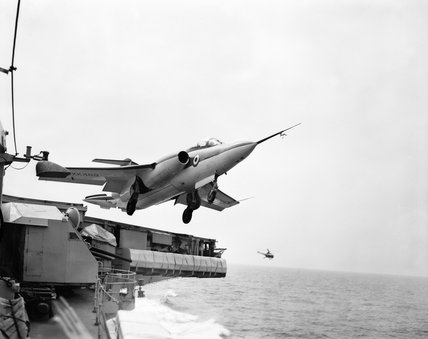 Blackburn NA-39 during trials on HMS VICTORIOUS, June 1959.