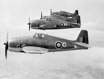 Grumman Hellcats of No.1840 Naval Air Squadron based at RNAS Eglinton in Northern Ireland, 23 June 1944.