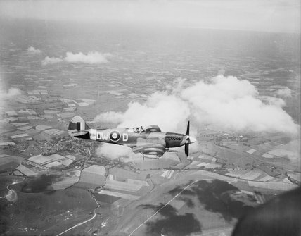 Supermarine Spitfire Mk XIV flown by the CO of No. 610 Squadron RAF, Squadron Leader R A Newbury, based at Friston, Sussex, 3 July 1944.