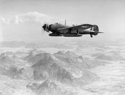 Vickers Wellesley Mk I of No. 47 Squadron on a bombing mission to Keren, Eritrea, 2 April 1941.
