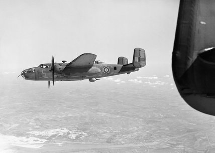 North American Mitchell Mk II of No. 98 Squadron RAF on an operation over northern France, 19 April 1944.