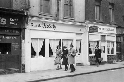 The 'Victory' restaurant in Soho, London, 1944.