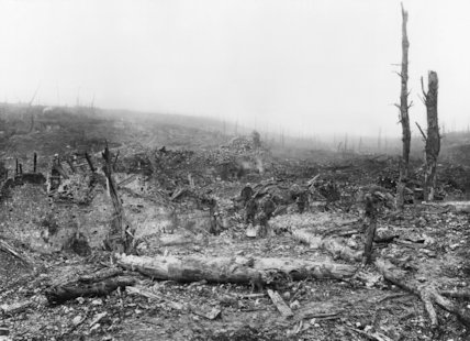 The remains of the village of Beaumont Hamel after its capture, The Battle of Ancre Heights 10 -11 November. 1916
