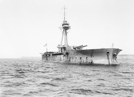 The Monitor HMS ABERCROMBIE in 1919, after returning home from service in the Mediterranean.