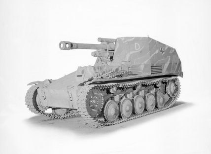 German Wespe 10.5cm self-propelled gun.