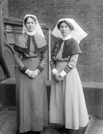 A sister and a matron from Queen Alexandra's Imperial Military Nursing Service during the First World War.