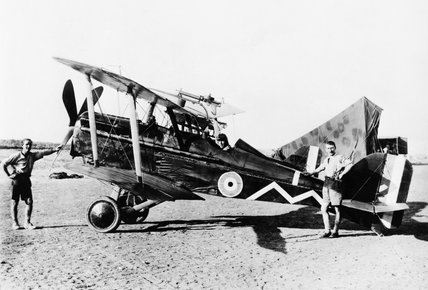 SE5a, single-seat scout, of No 111 Squadron, Royal Flying Corps in Palestine, 1917-1918.