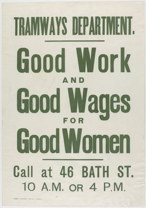 Good Work and Good Wages for Good Women
