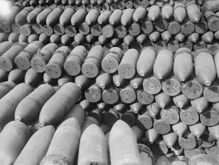 9.2 inch howitzer shells, September 1916.