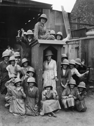 Woman workers in the Army Tropical Helmet factory, E. Day Ltd., St. Albans.