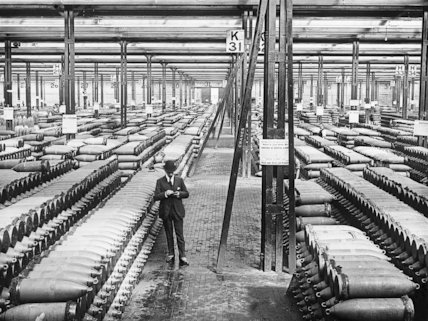 A corner of one of England's great shell-filling factories.