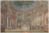 The Banquetting Room, Royal Pavilion, Brighton; from John Nash, 'The Royal Pavilion at Brighton', 1826