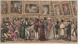 A Shilling well laid out. Tom and Jerry at the Exhibition of Pictures at the Royal Academy; from Pierce Egan, 'Life in London', 1821