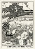 The Cock and the Jewel.;Roger L'Estrange, from 'A Hundred Fables of Æsop', 1899