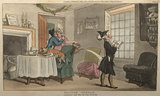 Doctor Syntax copying the wit of the window, from 'The Tour of Doctor Syntax in search of the Picturesque', London 1812
