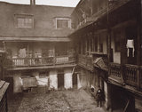 The Inn Yard,  The Oxford Arms, Warwick Lane, 1875
