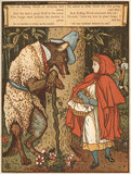 And she met a great Wolf in the wood ...' (Little Red Riding Hood), from Walter Crane's 'The Blue Beard Picture Book', London [1879?]
