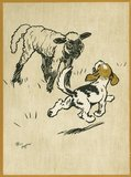 The Playful Lamb, from Cecil Aldin's 'Field Babies', London: Humphrey Milford, Oxford University Press, [1919?]