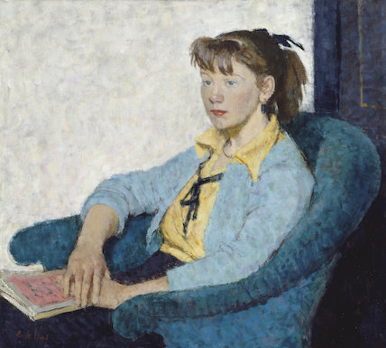 Girl in Blue Armchair