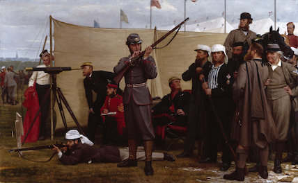 Volunteers at the Firing-Point 1866