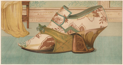Shoe with moveable pattern