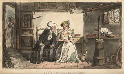 Doctor Syntax & dairy maid, from 'The Tour of Doctor Syntax in search of the Picturesque', London 1812