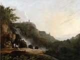 View of Tivoli: the Cascatelle and the 'Villa of Maecenas'