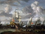 An English Yacht saluting a Dutch Man-of-War in the port of Rotterdam
