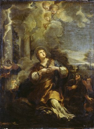 St Martina calling down Lightning on the Idols