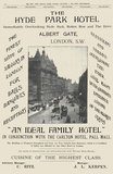 Advertisement, The Hyde Park Hotel, December 21, 1902