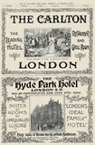 Advertisement, Carlton & Hyde Park Hotels, December 18, 1904