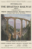 Advertisement, Switzerland, The Rhaetian Railway, December 16, 1906